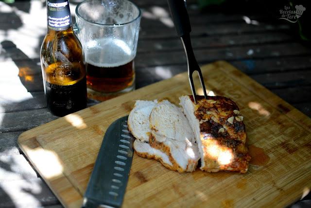 Lomo de cerdo a baja temperatura a la cerveza