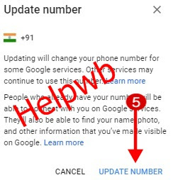 gmail email phone number change by helpwb
