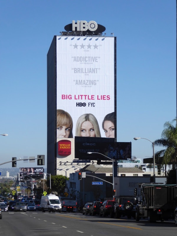 Giant Big Little Lies Golden Globes FYC billboard