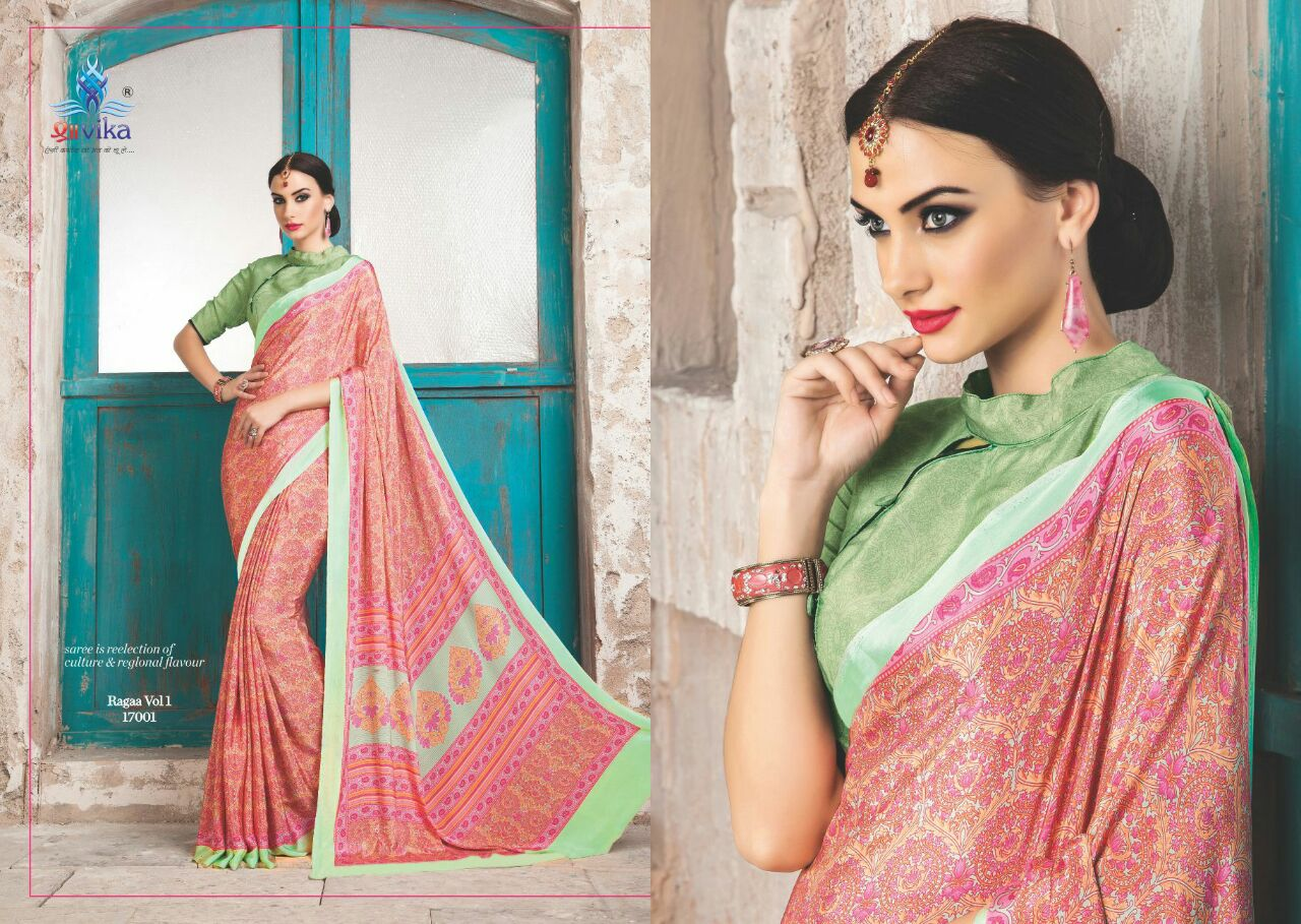 Ragaa Vol 1 – Exclusive Georgette Printed Saree Buy Online