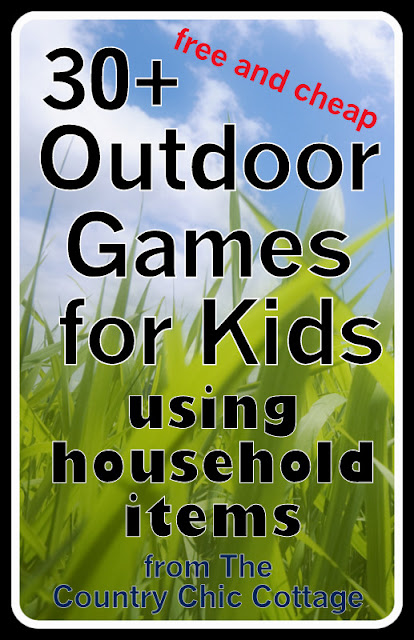 Outdoor games for kids using household items free and for Where to buy cheap household items