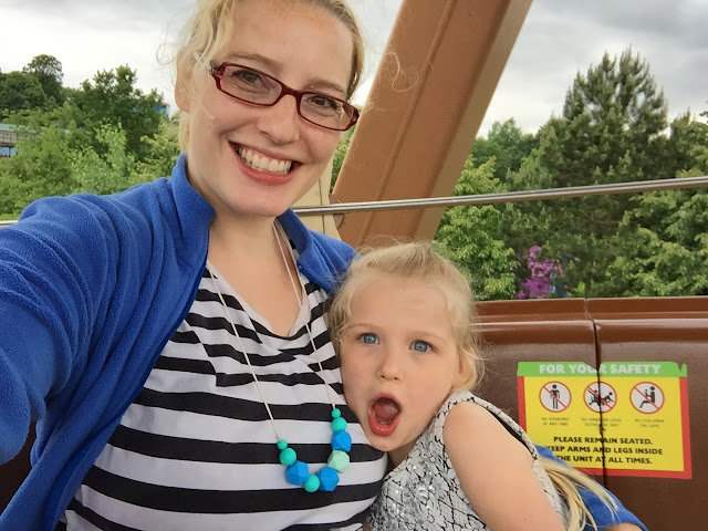 Mother and daughter on a ride at Legoland, Windsor