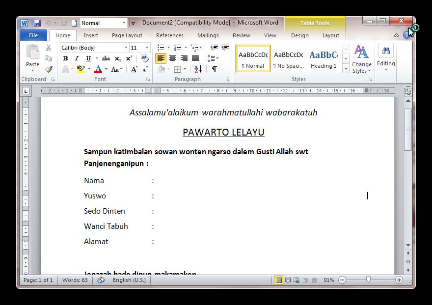 Contoh Membuat Berita Lelayu Dalam Bahasa Jawa Lc Fotokopi Dan Atk