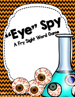 """Eye"" Spy--A Sight Word Game"