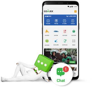 Fitur Chat terbaru Gojek