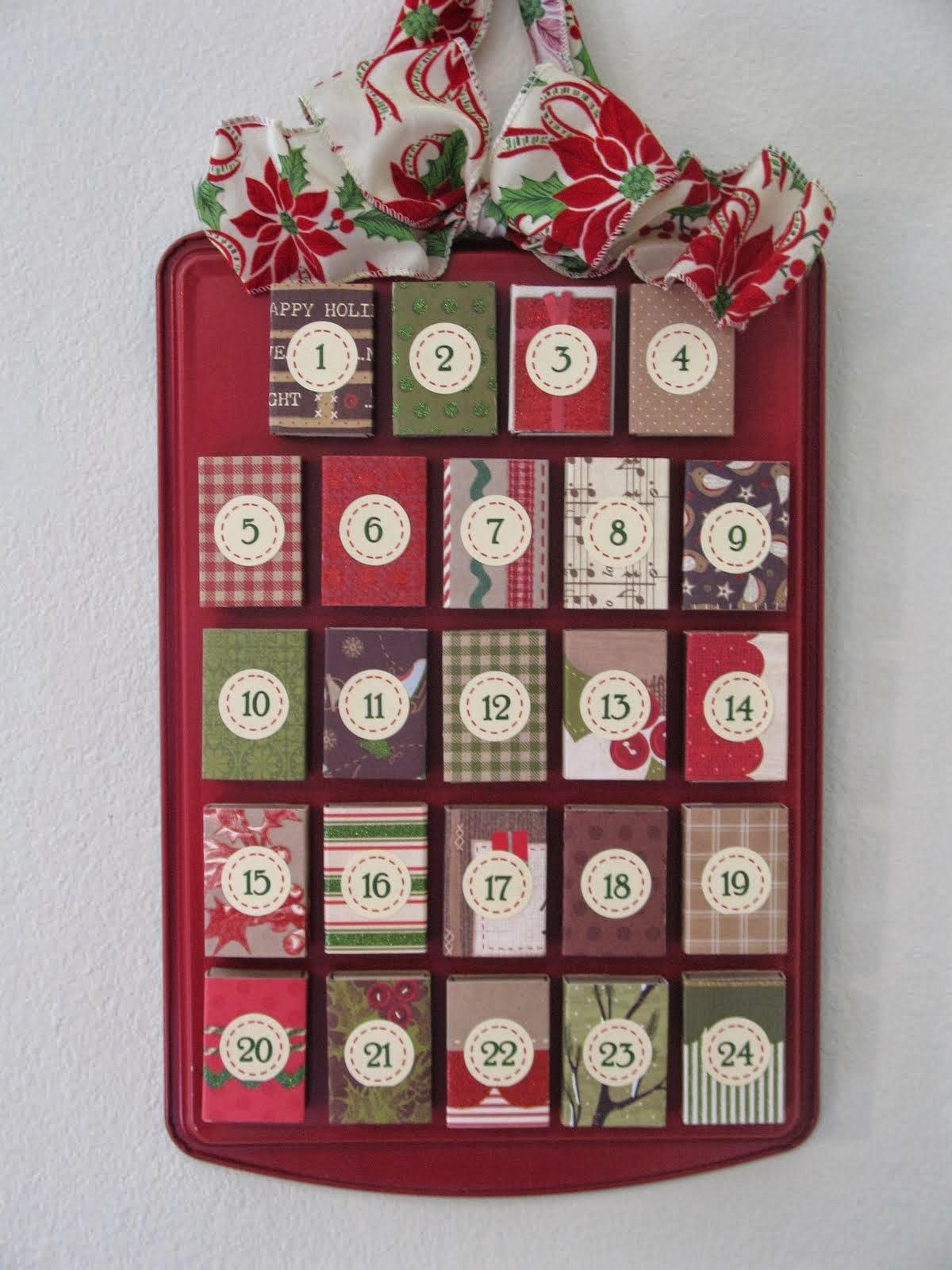 adventi naptár gyufásdobozokból Hulladékból készült tárgyak: Adventi naptár   gyufásdobozból (2) adventi naptár gyufásdobozokból