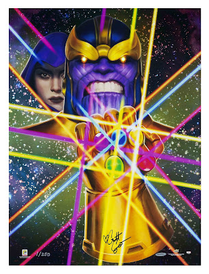 "San Diego Comic-Con 2018 ""Infinity Gauntlet Act III"" Marvel Print by Crystal Graziano x Upper Deck"