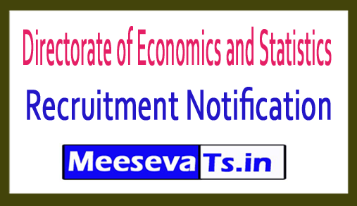 Directorate of Economics and Statistics DEC Recruitment