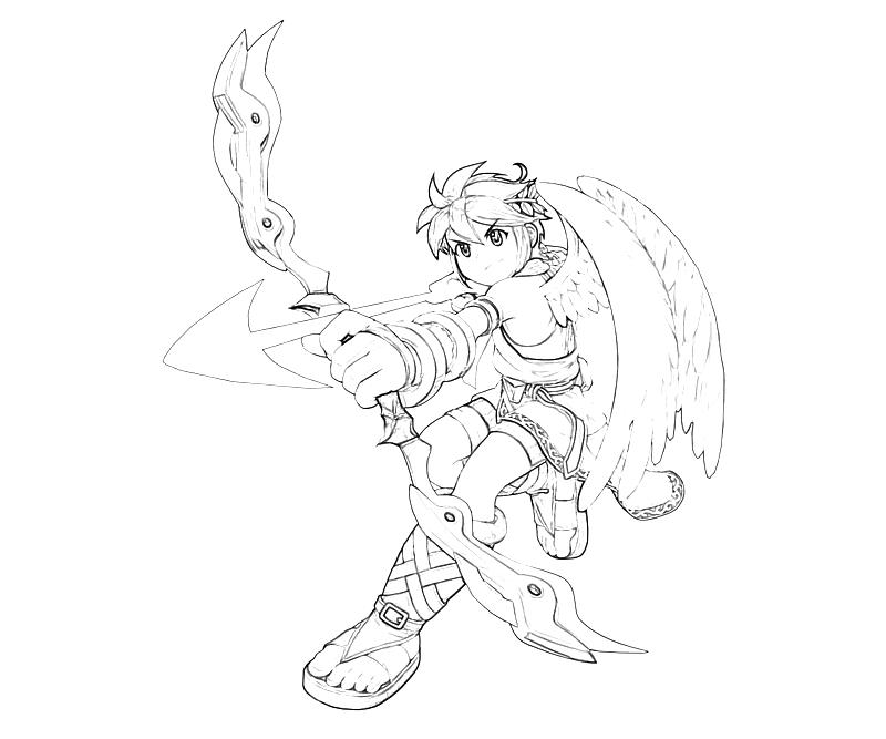 kid icarus pit bow mario Super Smash Brawl Pit kid icarus pit bow coloring pages