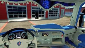 Scania RJL CMI Blue Interior