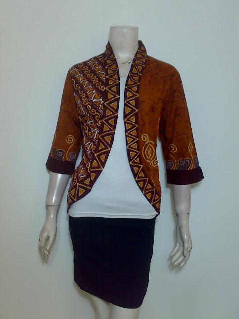 Model Bolero Batik tulis Asli Ukuran Xl
