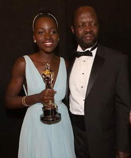 """You can do anything!"" Lupita Nyong'o celebrates her father as he is sworn in as Governor of Kisumu County, Kenya"