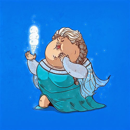 Fat Super Hero Gemuk - Fal Elsa Frozen