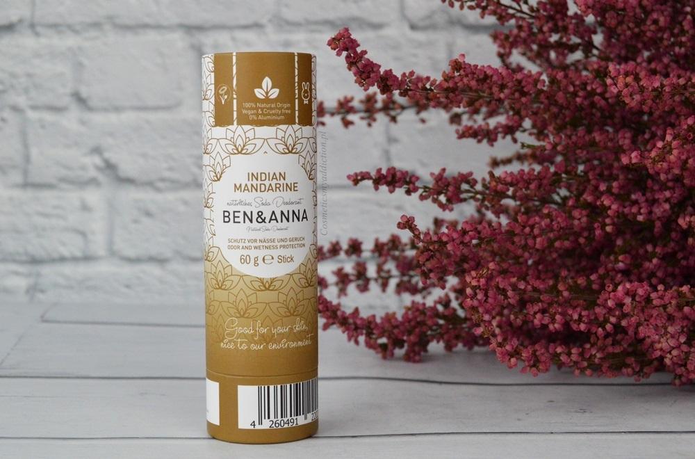 Ben&Anna, Naturalny dezodorant w sztyfcie o zapachu Indian Mandarine