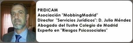 "Asociación ""MobbingMadrid"" Director  ""Servicios Jurídicos"": D. Julio Méndez"