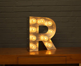Letter R Light - notonthehighstreet