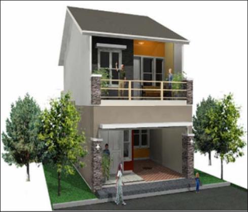 Contoh Gambar Rumah Di Petak Lahan Yang Minimalis