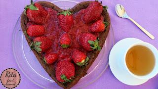 sernik w kształcie serca