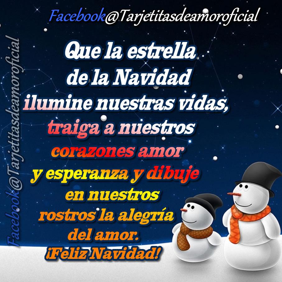 Que el cálido abrazo de la Navidad colme vuestros corazones y haga crecer el cari±o la prensi³n y el amor en vuestros seres queridos ¡Feliz Navidad