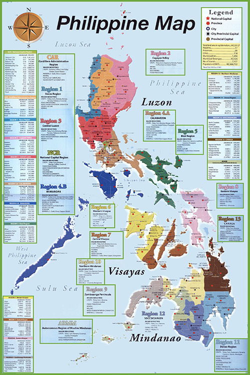 Large Size of Detailed Map of the Philippines