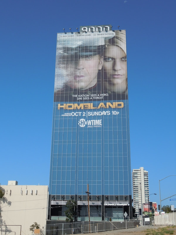 Giant Homeland TV billboard