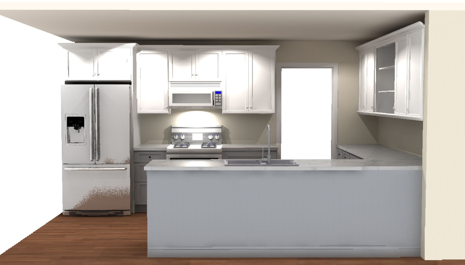 Kitchen Cabinets Grey Lower White Upper
