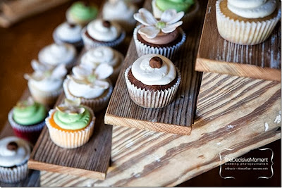 rustic ladder cupcake stand