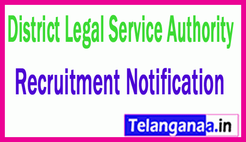 District Legal Service Authority DLSA Recruitment