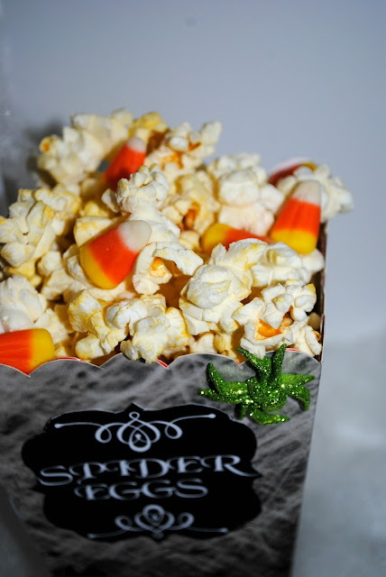 Halloween movie night spooky popcorn