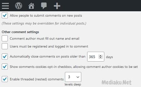 Menutup Komentar Otomatis Di WordPress