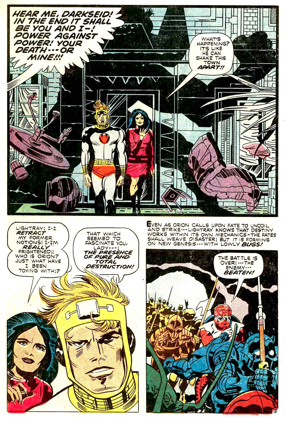 New Gods v1 #9 dc bronze age comic book page art by Jack Kirby