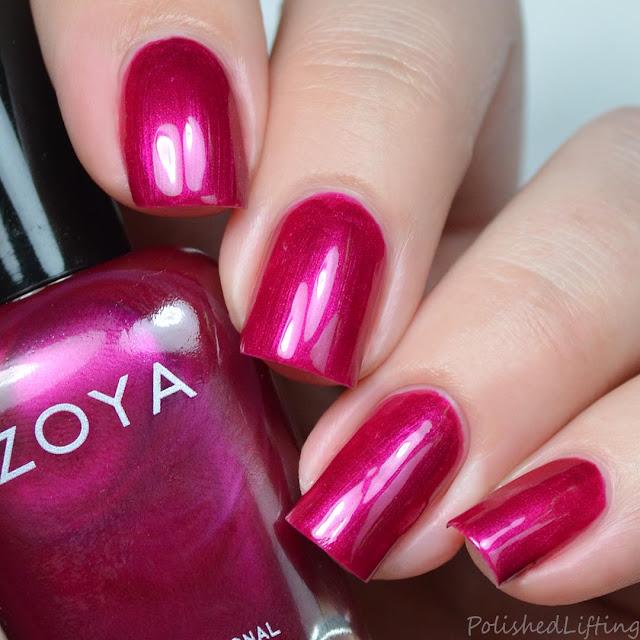berry jewel toned pearl nail polish