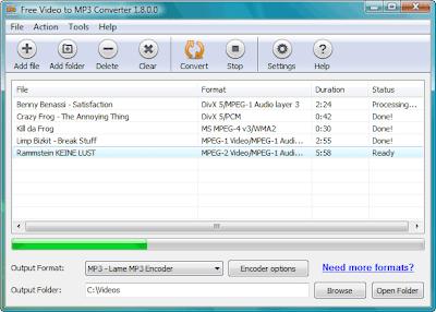 تحميل برنامج تحويل الفيديو الي mp3 مجانا Video to MP3 Convert