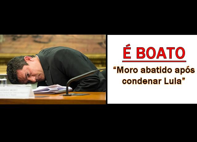 Foto mostra Moro abatido após condenar Lula
