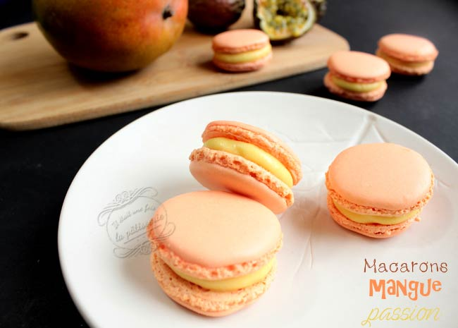 macarons mangue fruits de la passion
