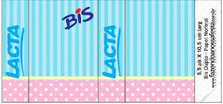 Etiquetas para Imprimir Gratis de Celeste, Rosa y Amarillo.