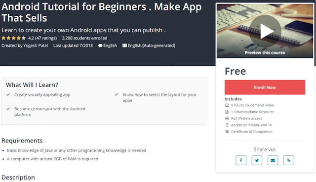 [100% Free] Android Tutorial for Beginners . Make App That Sells
