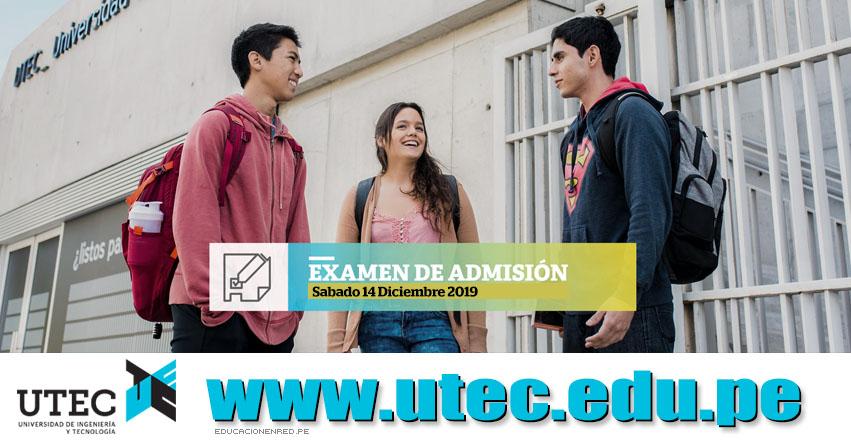 Resultados UTEC 2019 (Sábado 14 Diciembre) Lista de Ingresantes - Evaluación de Aptitud - Universidad de Ingeniería y Tecnología - www.utec.edu.pe