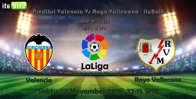 Prediksi Valencia Vs Rayo Vallecano - ituBola