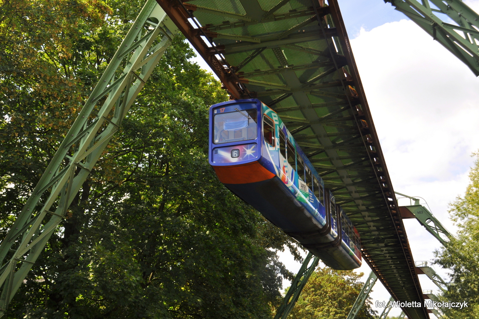 Wuppertal, Schwebebahn, kolejka podwieszana, zwiedzanie