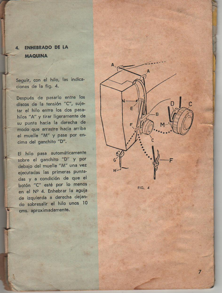 Maquinas de Coser: ENHEBRADO DE LA MÁQUINA NECCHI-LYCIA III