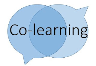 Two speech bubbles - Co-learning