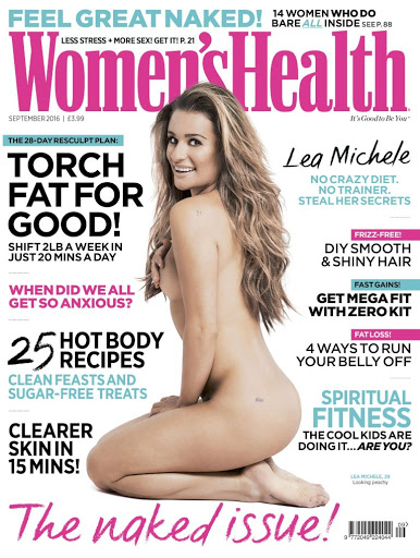 Lea Michele nude photo shoot for Women's Health UK Magazine