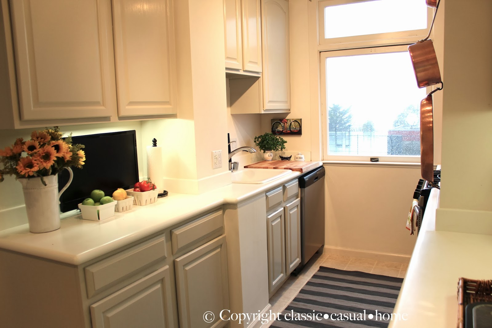 Classic • Casual • Home: Our Galley Kitchen Before And After