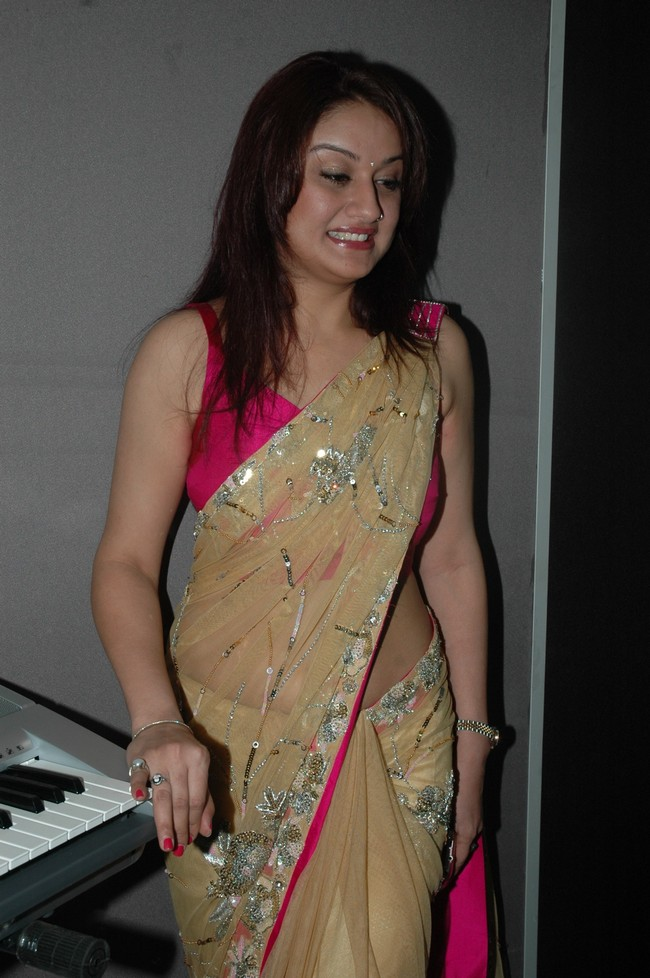 Sonia in designer saree