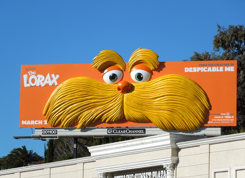 The Lorax movie billboard installation