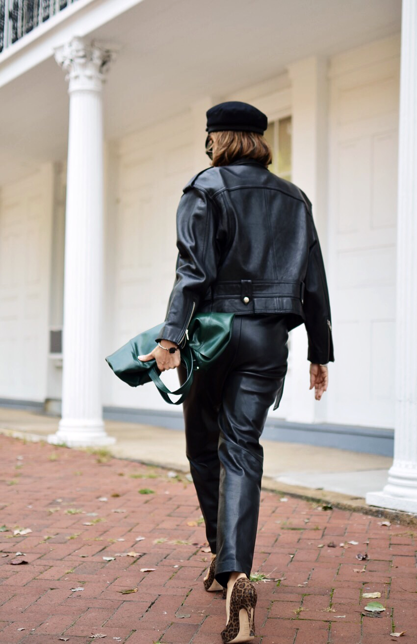 Leather on Leather Street Style