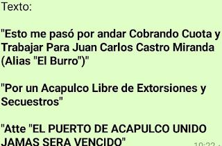 "Ejecutan a ""cobra-piso"" y le dejan narco-mensaje en Mozimba Guerrero"