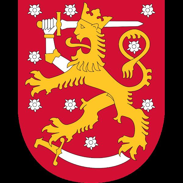 Logo Gambar Lambang Simbol Negara Finlandia PNG JPG ukuran 600 px