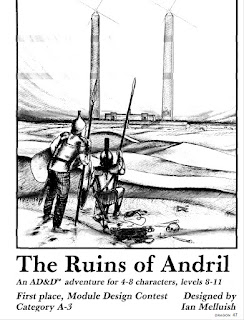 """The Ruins of Andril"" cover art by Roger Raupp"